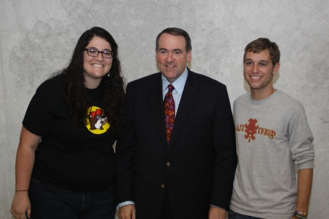 Huckabee, Jed and I meeting officially for the first time